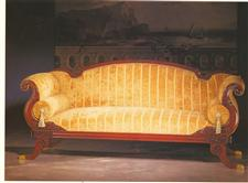 Hand carved mahogany framed sofa