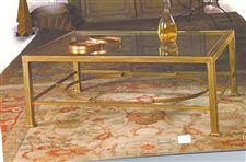 Iron Coffee Table in polished Brass