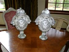 Pair of Porcelain Urns
