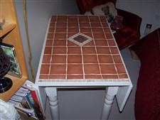 Drop Leaf Table with Custom Tiled Top