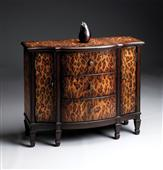 Leopard Painted Cabinet w/ Drawers by Butler