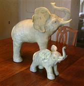 Pair of Elephant Sculptures