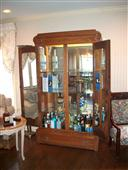 Antique Oak Armoire Bar