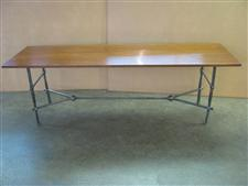Wrought Iron/wood Dining Table
