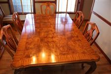 Henredon Blonde Wood Dining Table 6 Chairs In Central Station
