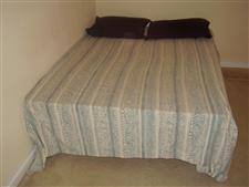 Queen-size mattress, Box spring, steel frame