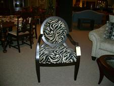 Zebra Print Occassional Chair