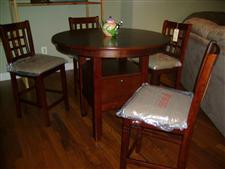 "42"" Round Pub Dining Set with 4 Bar Stools"