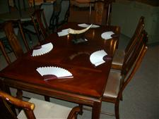 Bernhart Furniture Dining Room Table and China