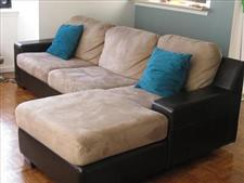 Mocha Brown L-shaped Sofabed / Couch