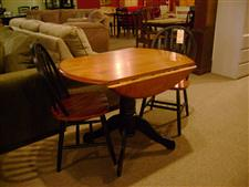 Drop Lid Dinette Table with Two Chairs