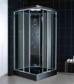 Steam shower with body jets