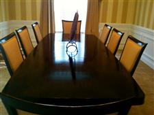 Buy Thomasville Furniture - EXCELLENT COND - THOMASVILLE 8 PC DINING RM SET (FFX)