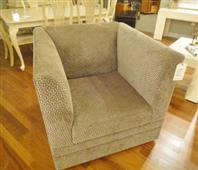 Custom Swivel Chair & Ottoman