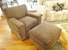 Custom Chair and Ottoman