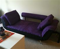 Convertible Futon Sofa Bed Exotic Purple -