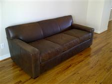 Mitchell Gold Bob Williams 82 Leather Sofa