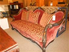 Red and Gold Aico Sofa