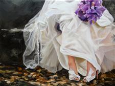 Wedding Painting by  Denise H. Cooperman
